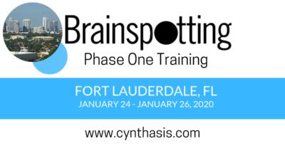 brainspotting phase one training fort lauderdale florida cynthasis